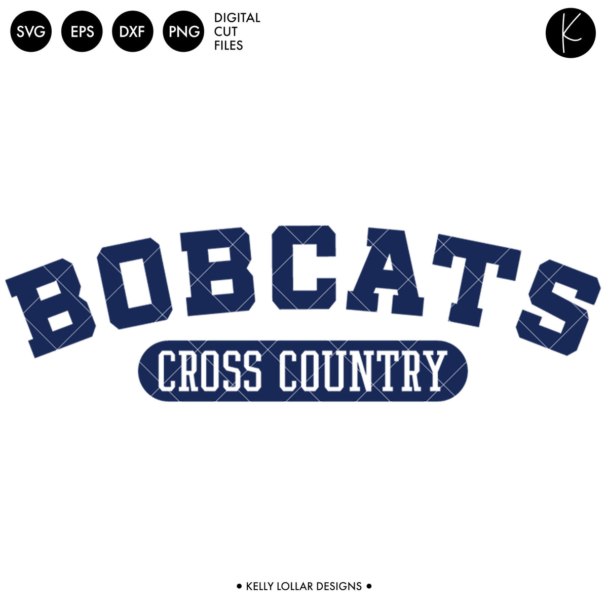 Bobcats Cross Country Bundle | SVG DXF EPS PNG Cut Files