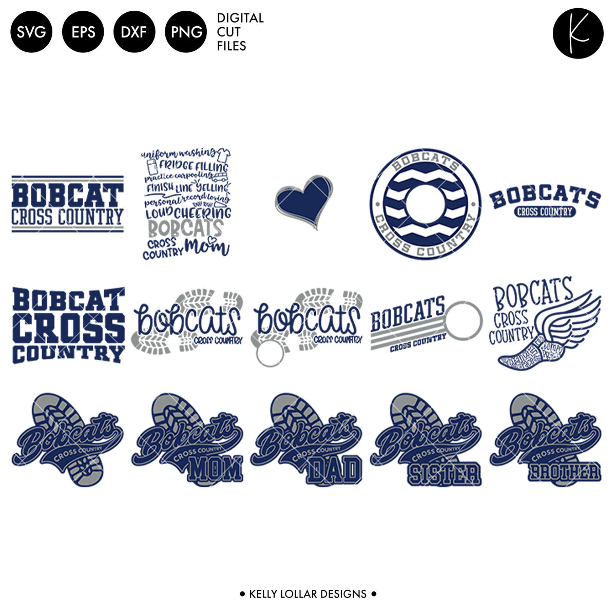 Bobcats Everything Spirit Bundle | SVG DXF EPS PNG Cut Files