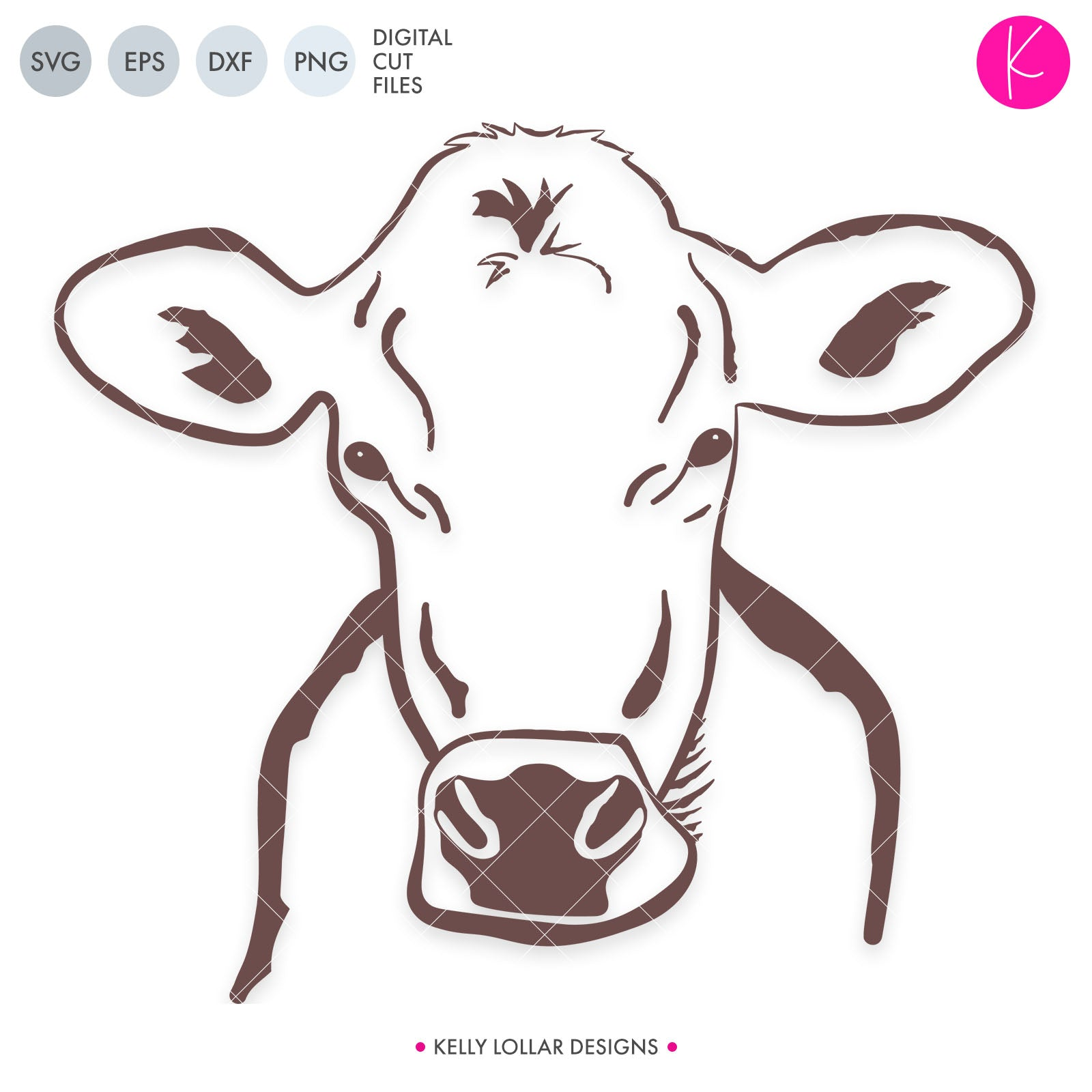 Brown Swiss Cow | SVG DXF EPS PNG Cut Files