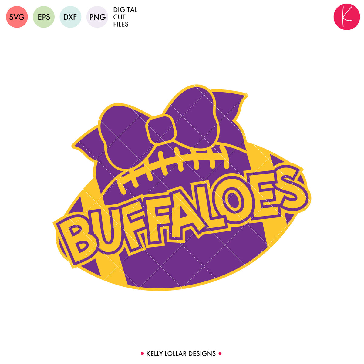 Buffaloes Football Bundle | SVG DXF EPS PNG Cut Files