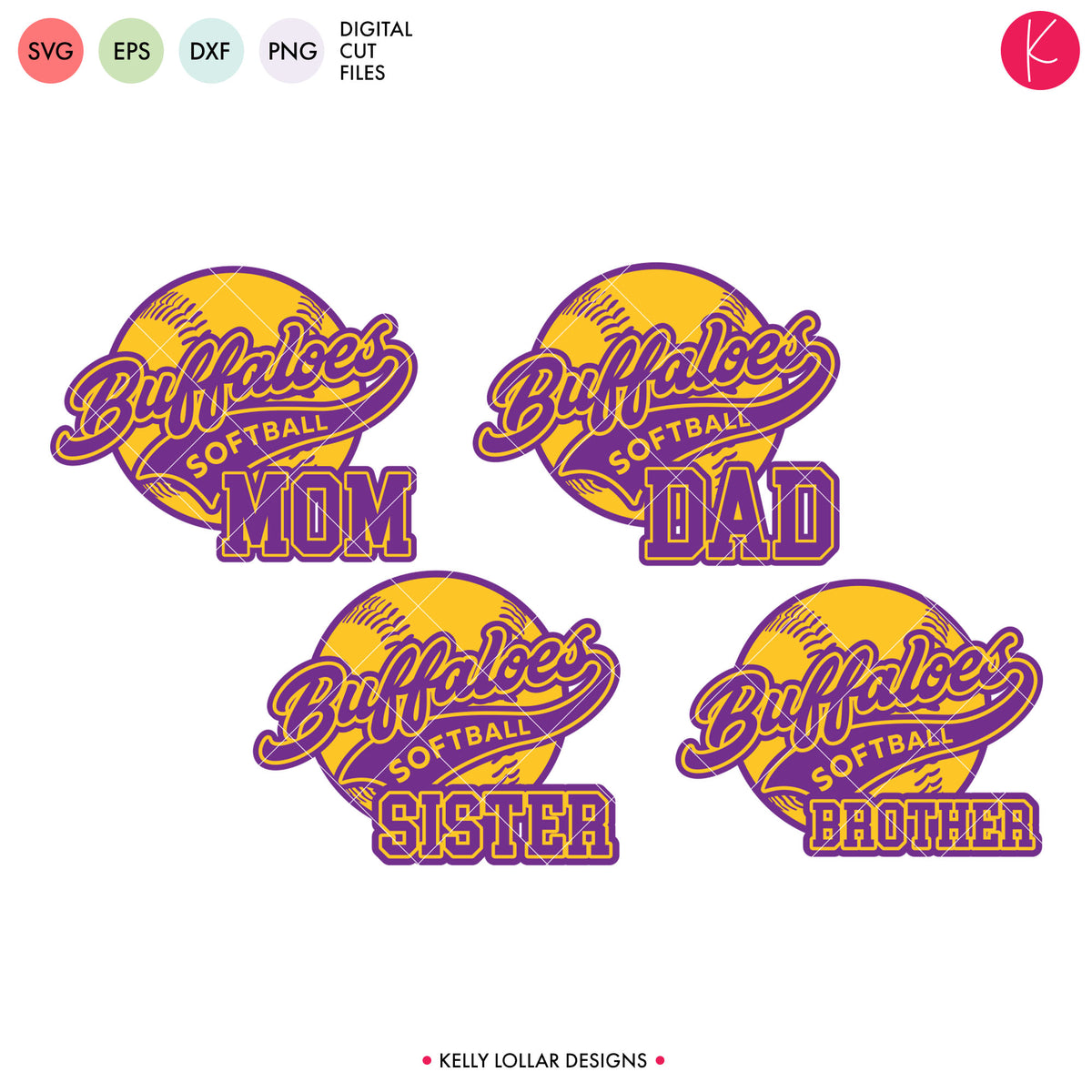 Buffaloes Baseball & Softball Bundle | SVG DXF EPS PNG Cut Files