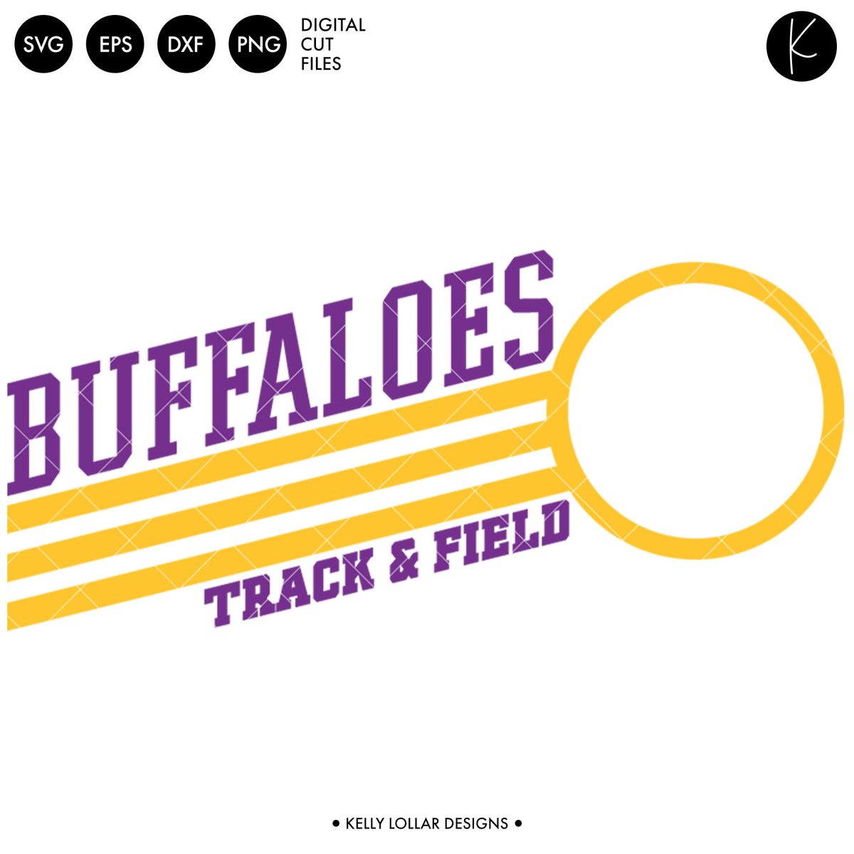 Buffaloes Track & Field Bundle | SVG DXF EPS PNG Cut Files