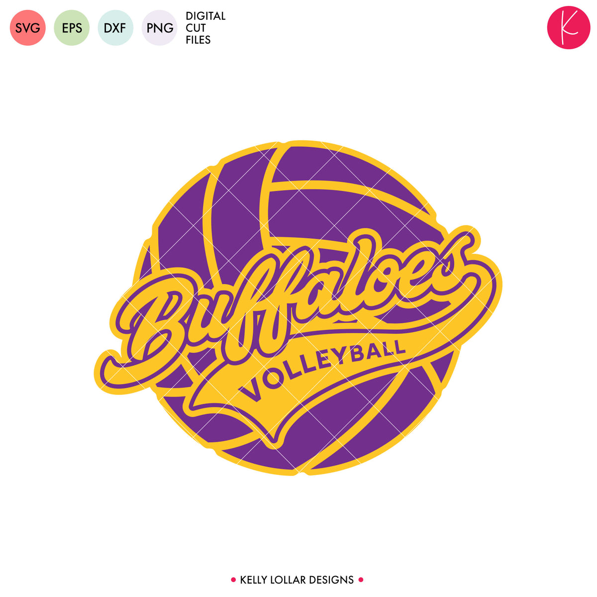 Buffaloes Volleyball Bundle | SVG DXF EPS PNG Cut Files