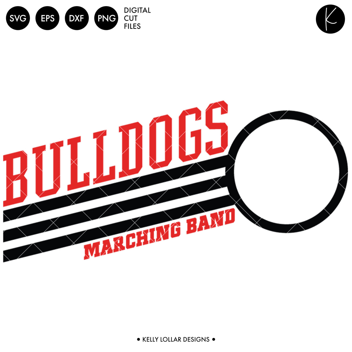 Bulldogs Band Bundle | SVG DXF EPS PNG Cut Files