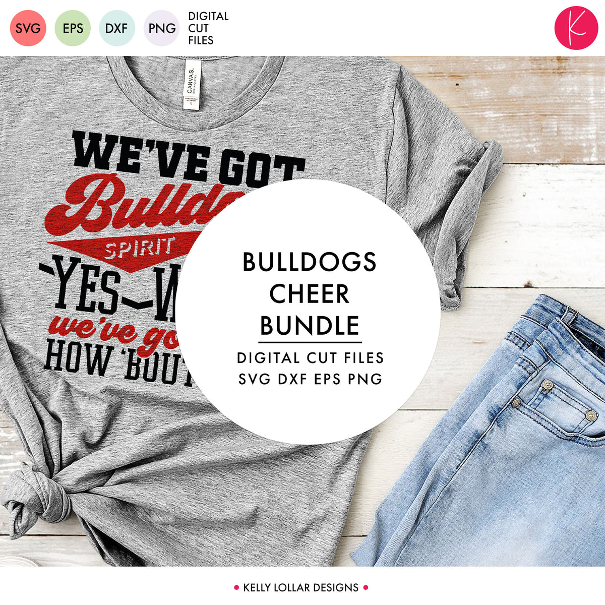 Bulldogs Cheer Bundle | SVG DXF EPS PNG Cut Files