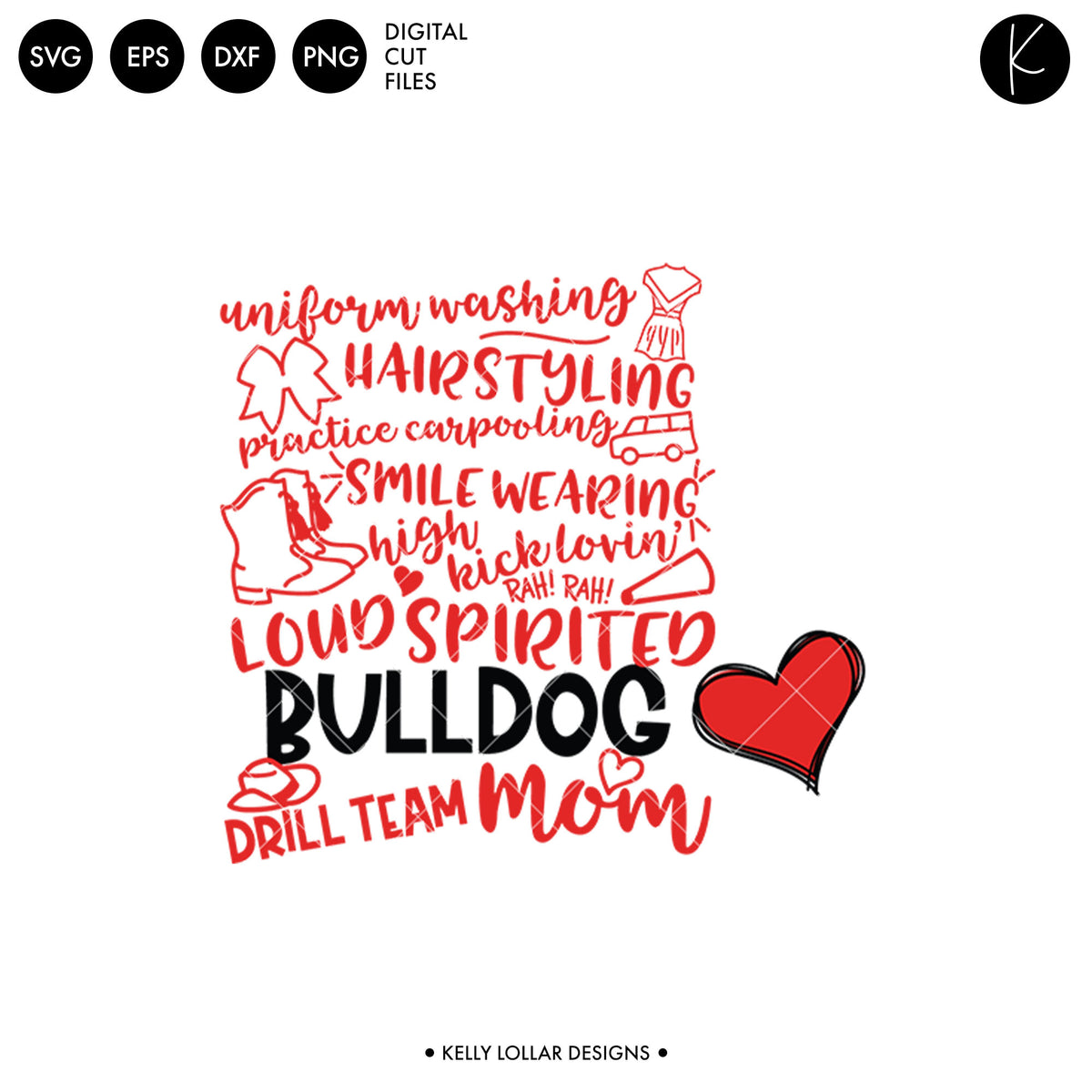 Bulldogs Drill Bundle | SVG DXF EPS PNG Cut Files
