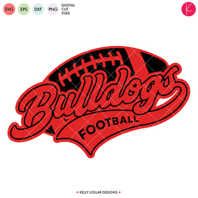 Bulldogs Football Bundle | SVG DXF EPS PNG Cut Files