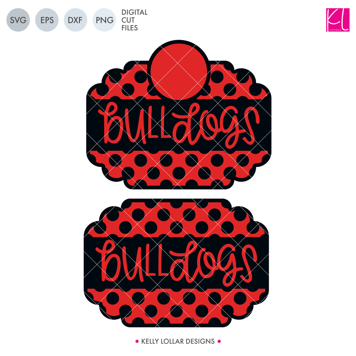 Bulldogs Mascot Bundle | SVG DXF EPS PNG Cut Files