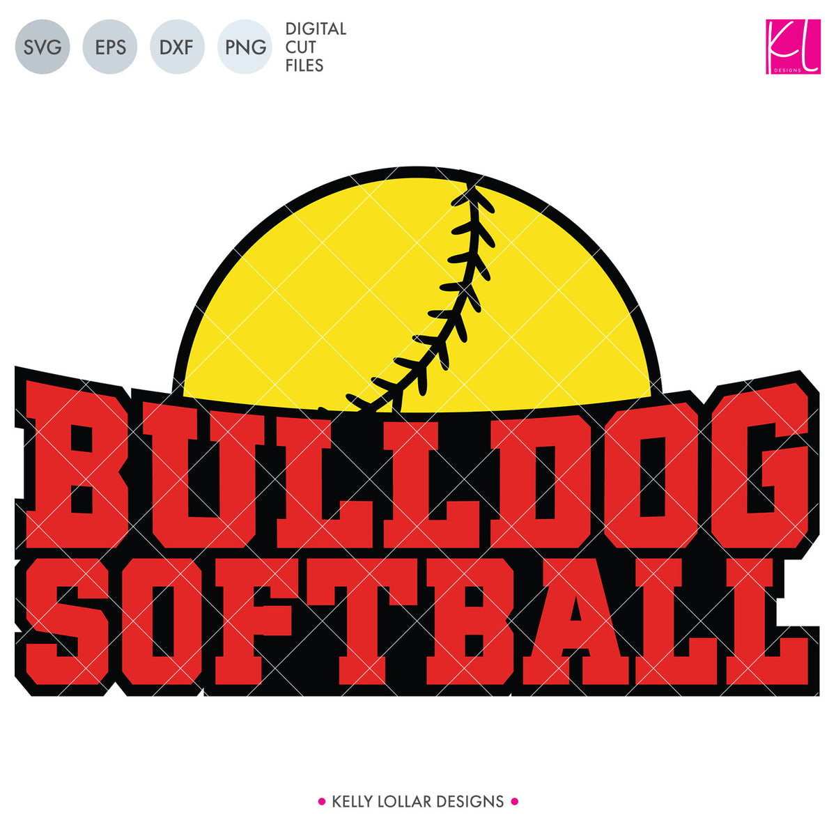 Bulldogs Baseball & Softball Bundle | SVG DXF EPS PNG Cut Files