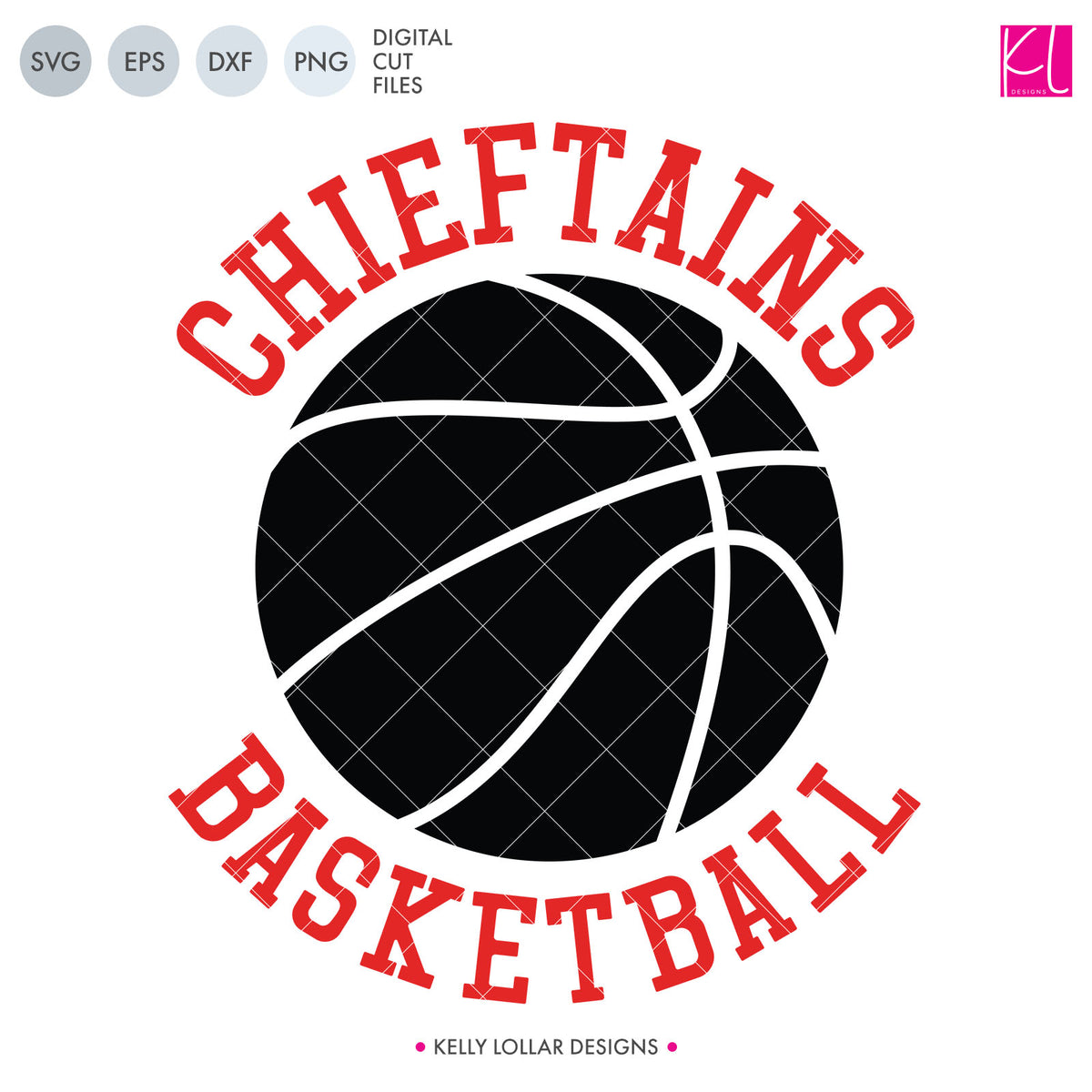 Chieftains Basketball Bundle | SVG DXF EPS PNG Cut Files