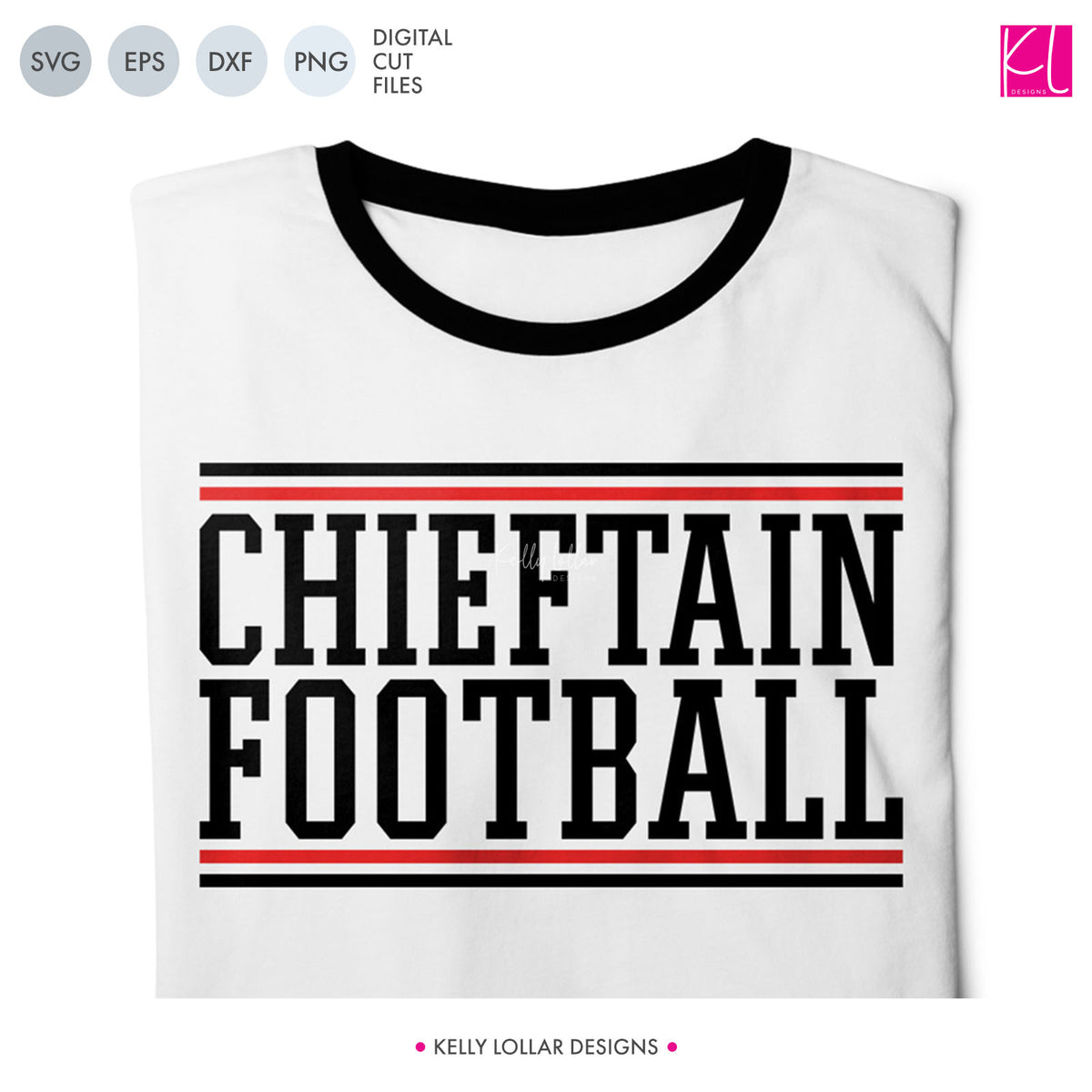 Chieftains Football Bundle | SVG DXF EPS PNG Cut Files