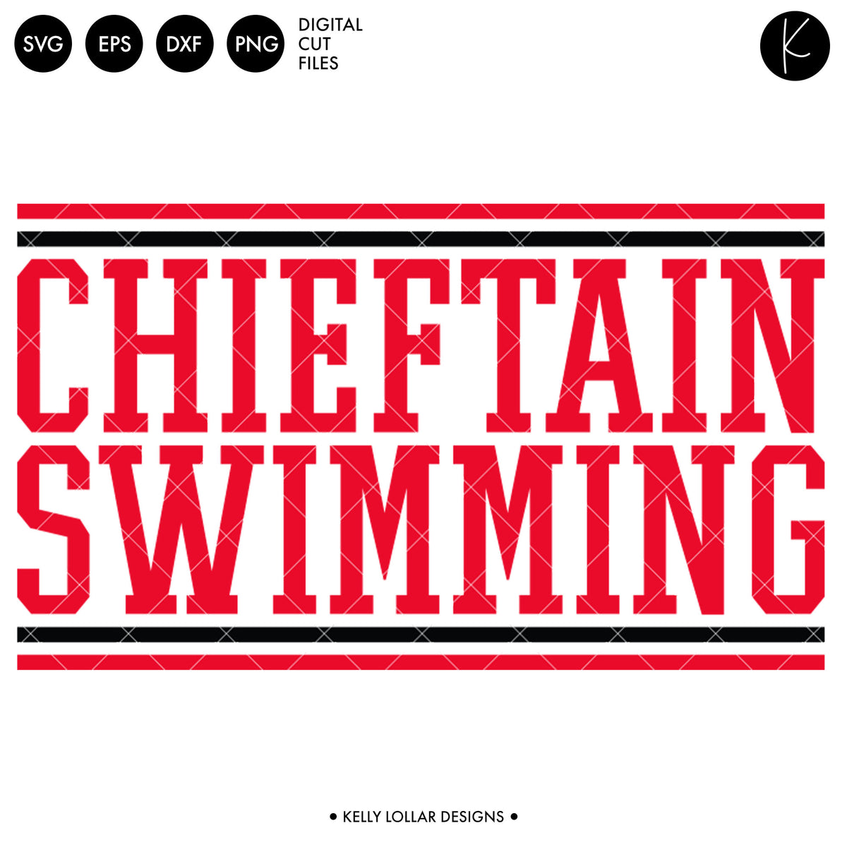 Chieftains Swim Bundle | SVG DXF EPS PNG Cut Files
