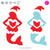 Christmas Mermaid | SVG DXF EPS PNG Cut Files