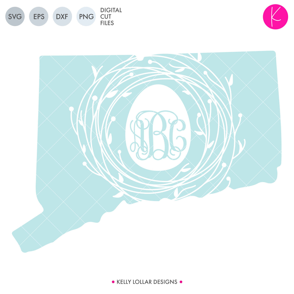 Connecticut State Bundle | SVG DXF EPS PNG Cut Files