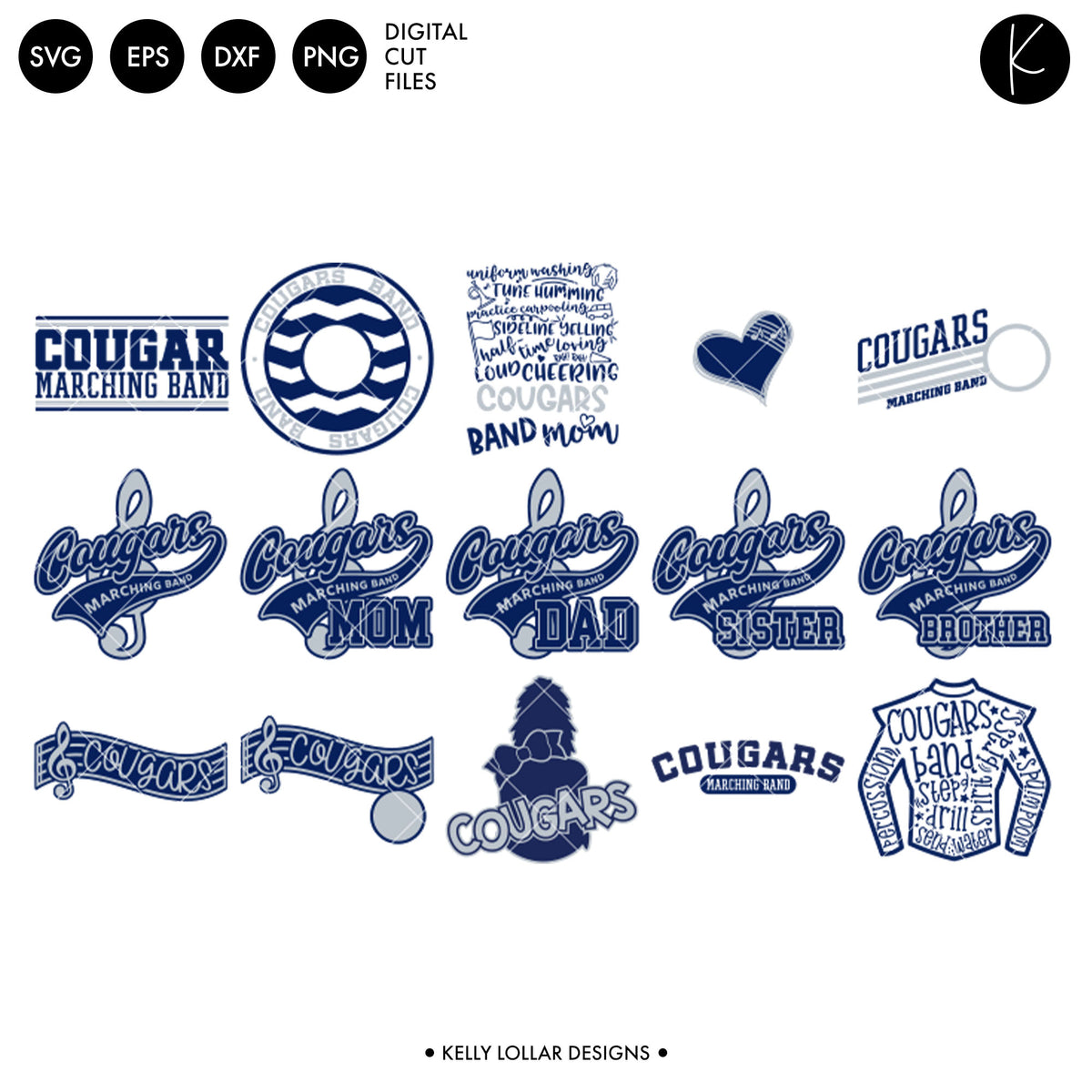 Cougars Everything Spirit Bundle | SVG DXF EPS PNG Cut Files