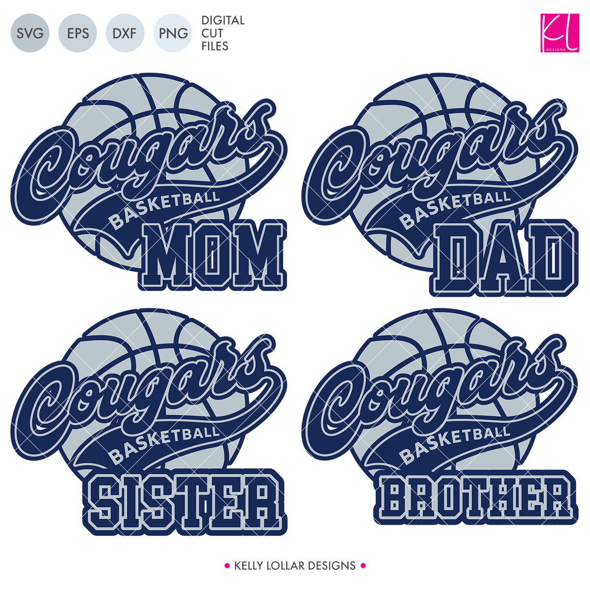 Cougars Basketball Bundle | SVG DXF EPS PNG Cut Files