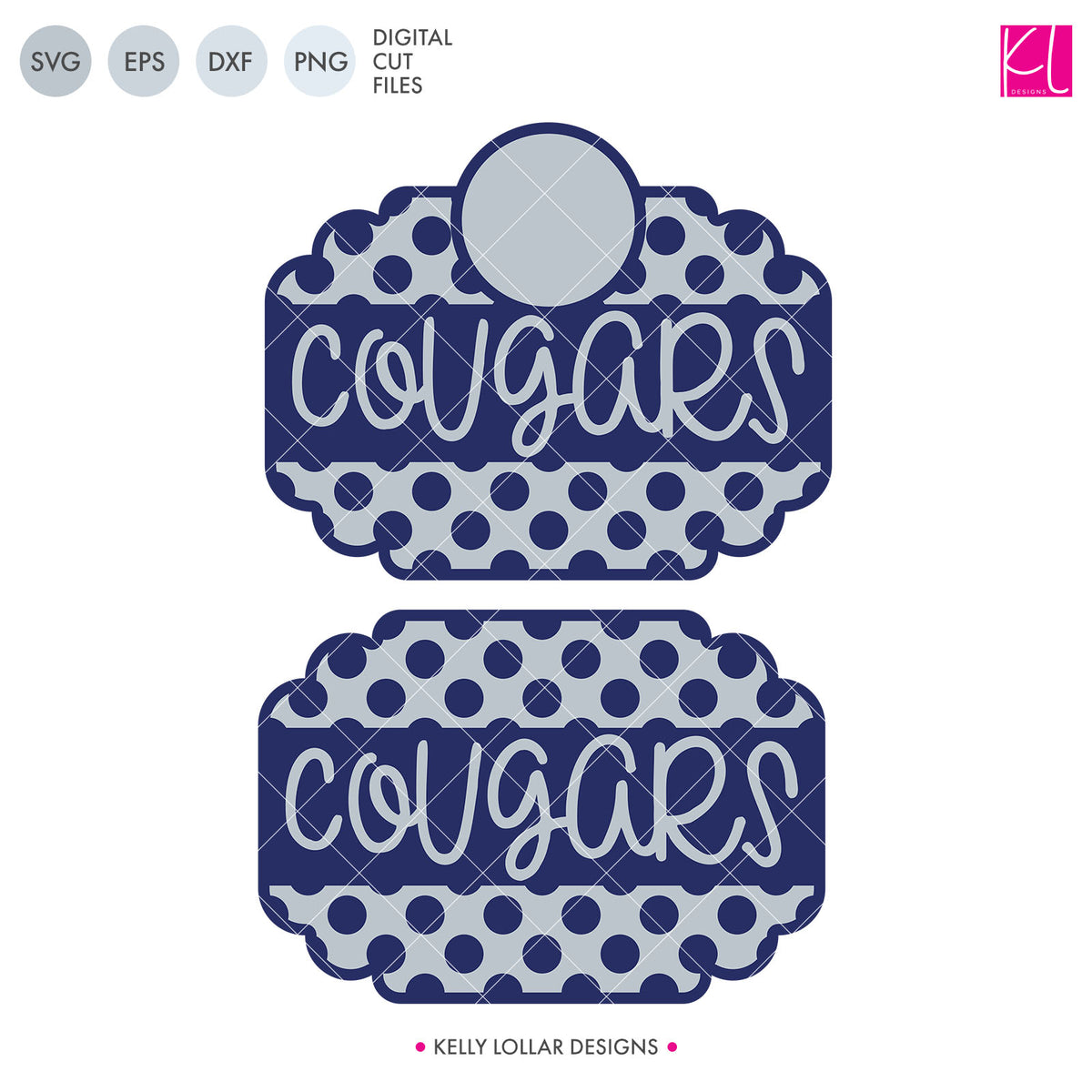 Cougars Mascot Bundle | SVG DXF EPS PNG Cut Files