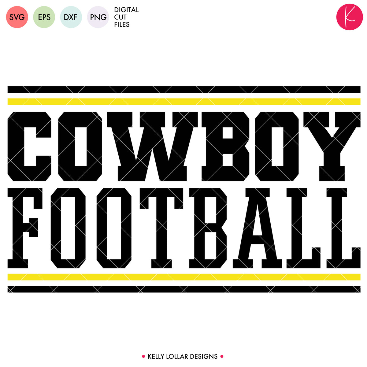 Cowboys Football Bundle | SVG DXF EPS PNG Cut Files