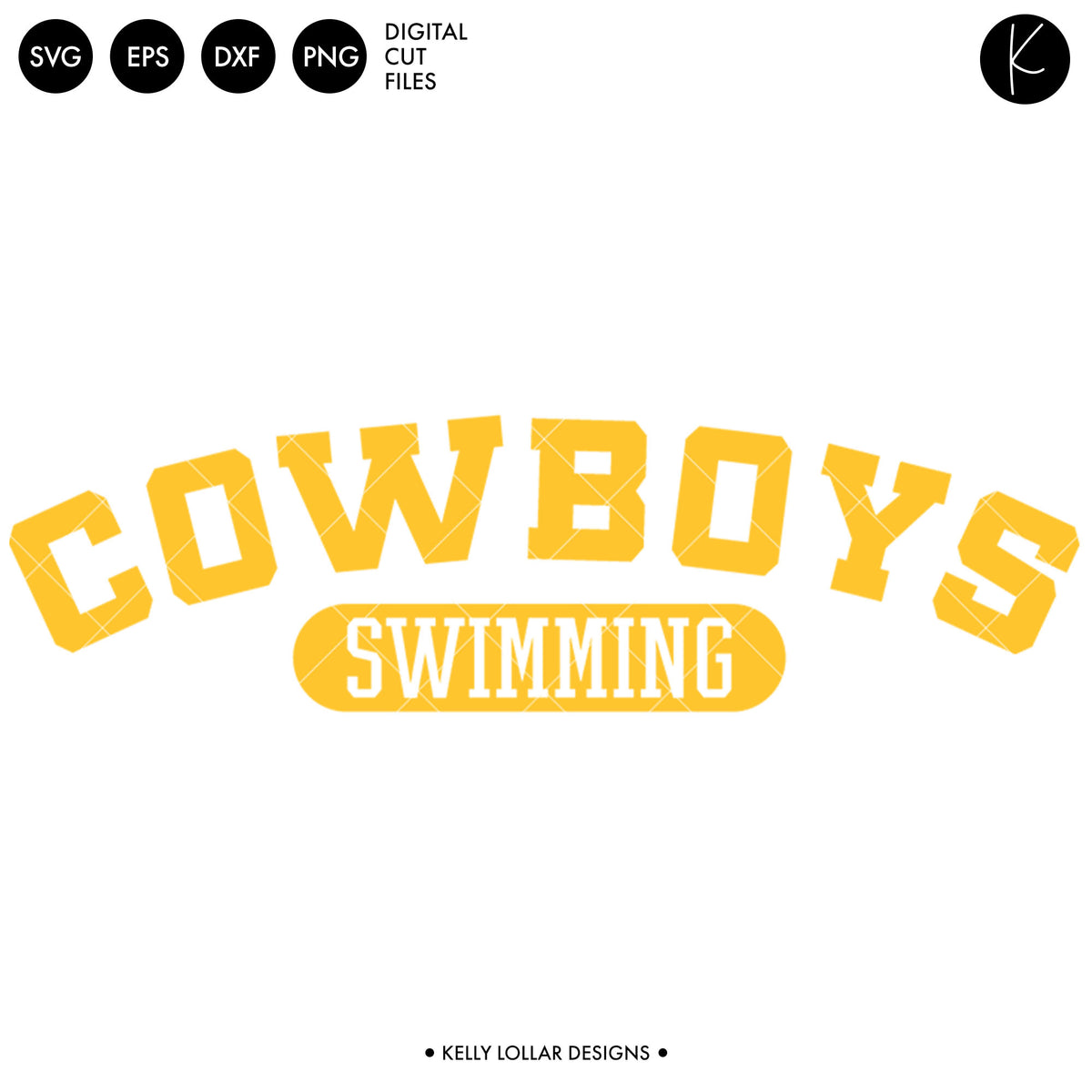 Cowboys Swim Bundle | SVG DXF EPS PNG Cut Files
