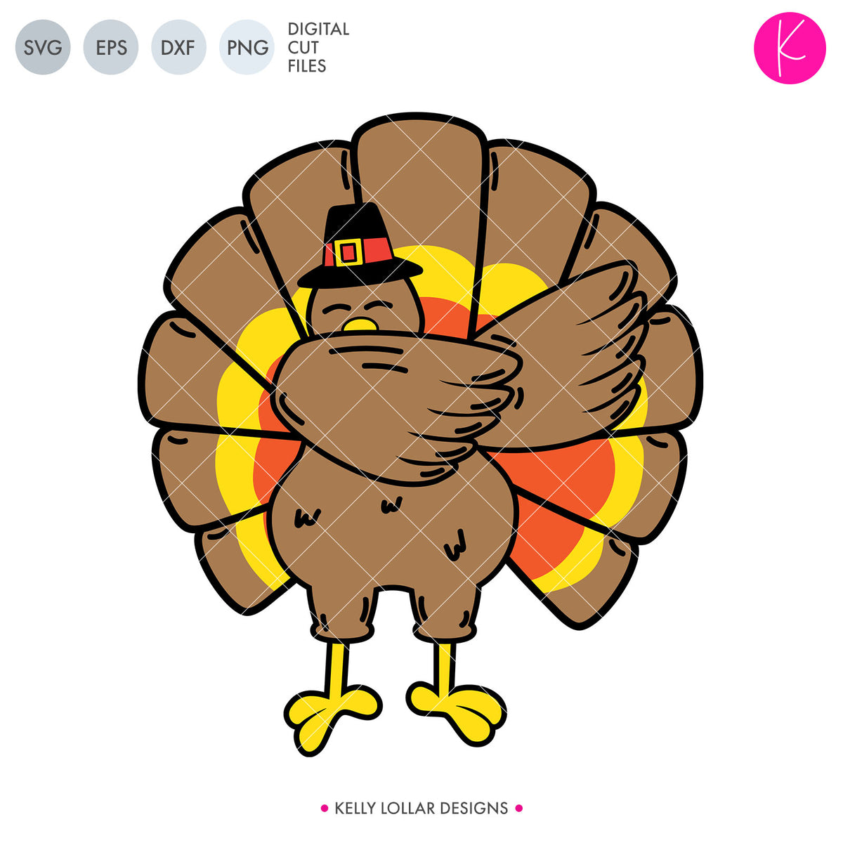 Dabbing Turkey | SVG DXF EPS PNG Cut Files