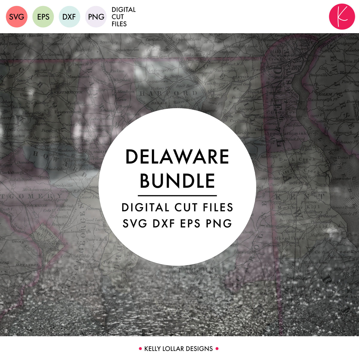 Delaware State Bundle | SVG DXF EPS PNG Cut Files