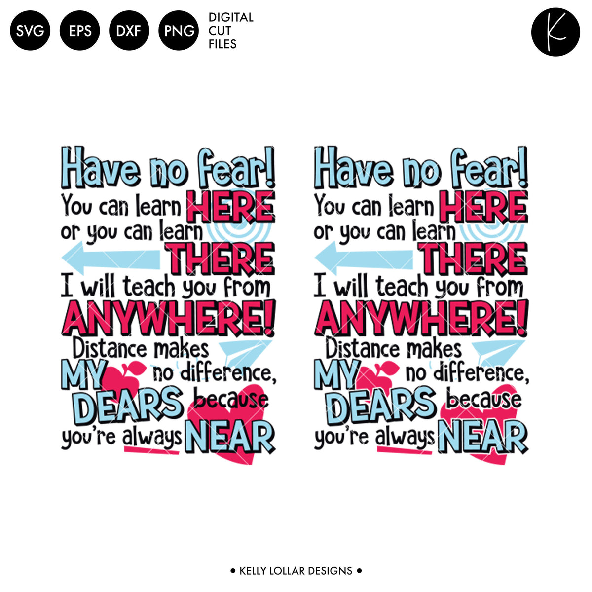 Distance Teacher Rhyme | SVG DXF EPS PNG Cut Files