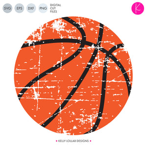 This distressed Basketball svg file is the perfect edition to a soft retro t-shirt