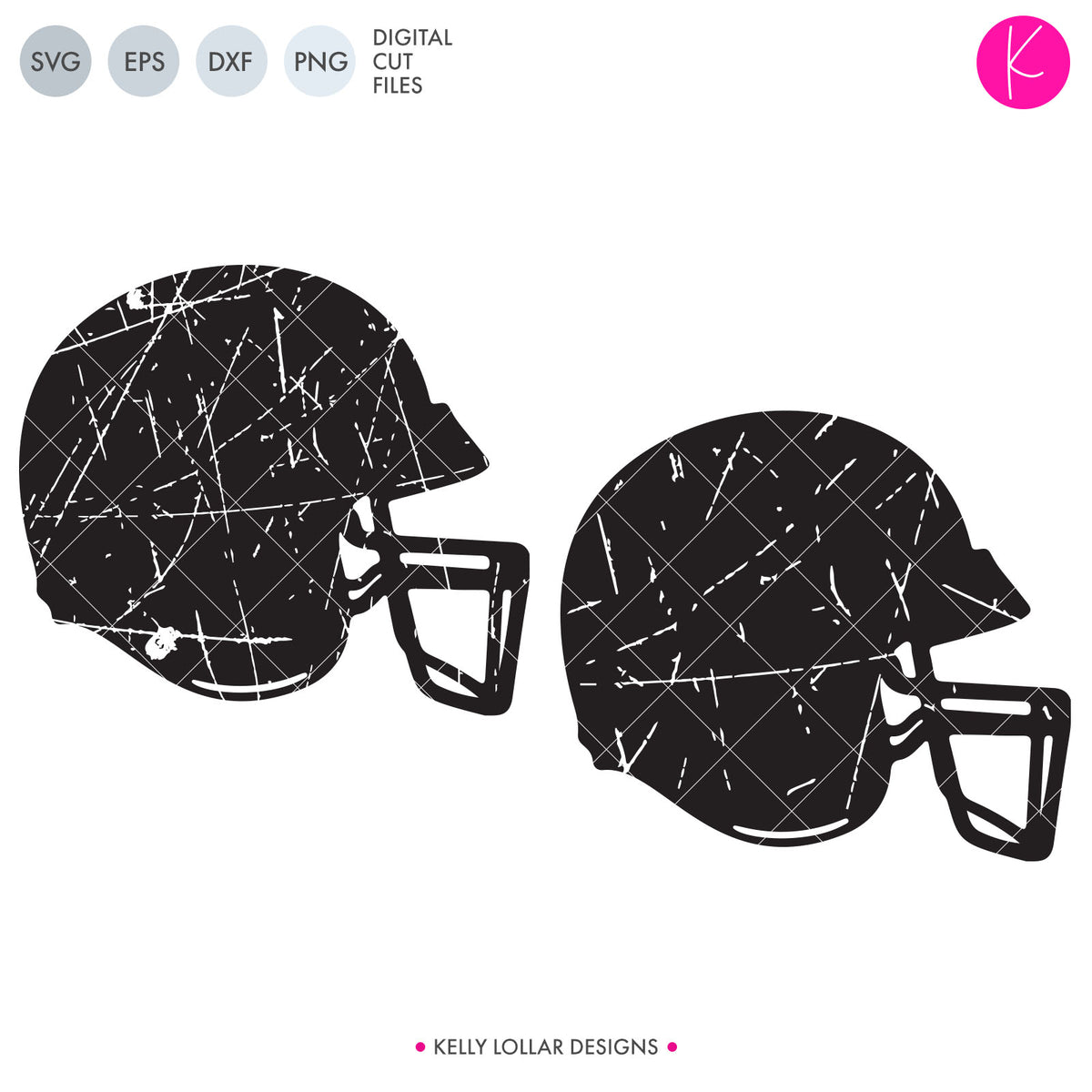 Distressed Football Helmet | SVG DXF EPS PNG Cut Files
