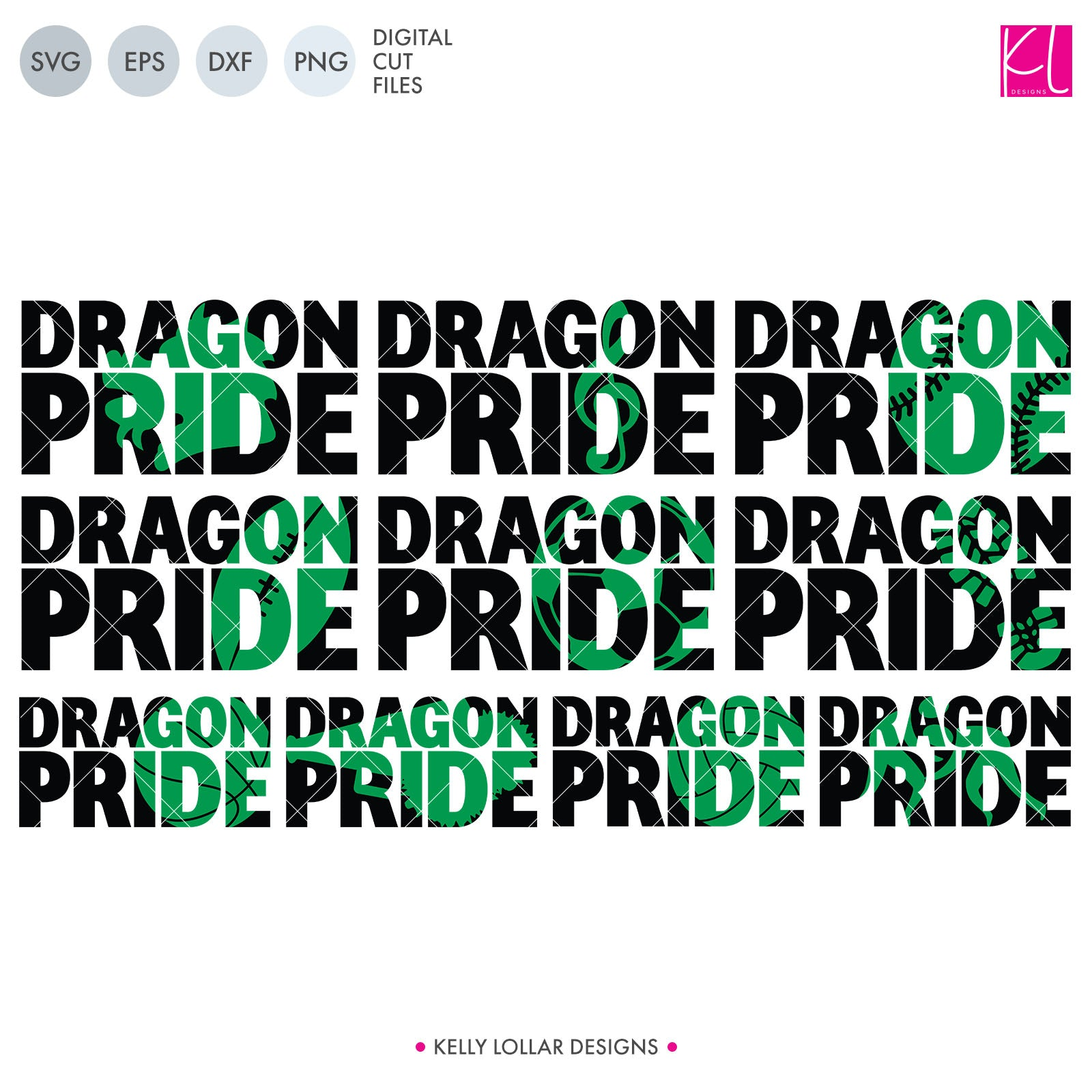 Dragons Mascot Bundle | SVG DXF EPS PNG Cut Files A perfect bundle for Dragons school spirit crafters! This set of 28 designs includes everything from cute and girly to unisex so you'll have a little something for everyone. Includes