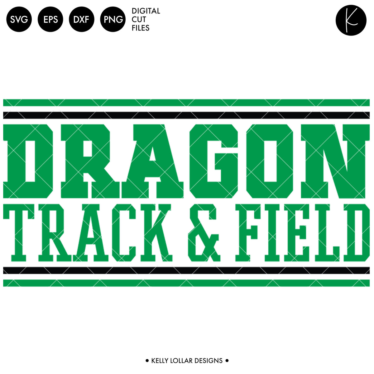 Dragons Track & Field Bundle | SVG DXF EPS PNG Cut Files