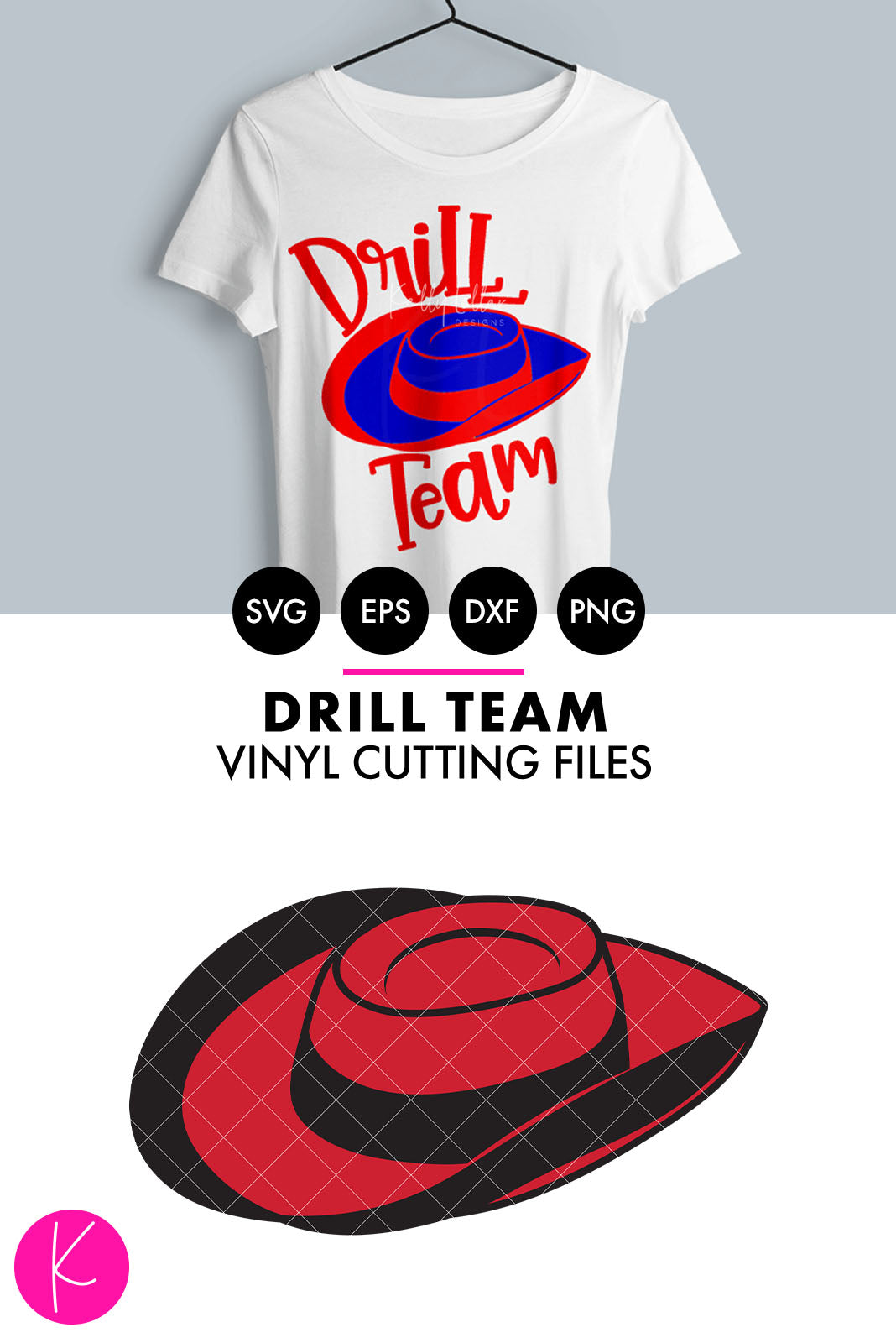 Drill Team Hat | SVG DXF EPS PNG Cut Files