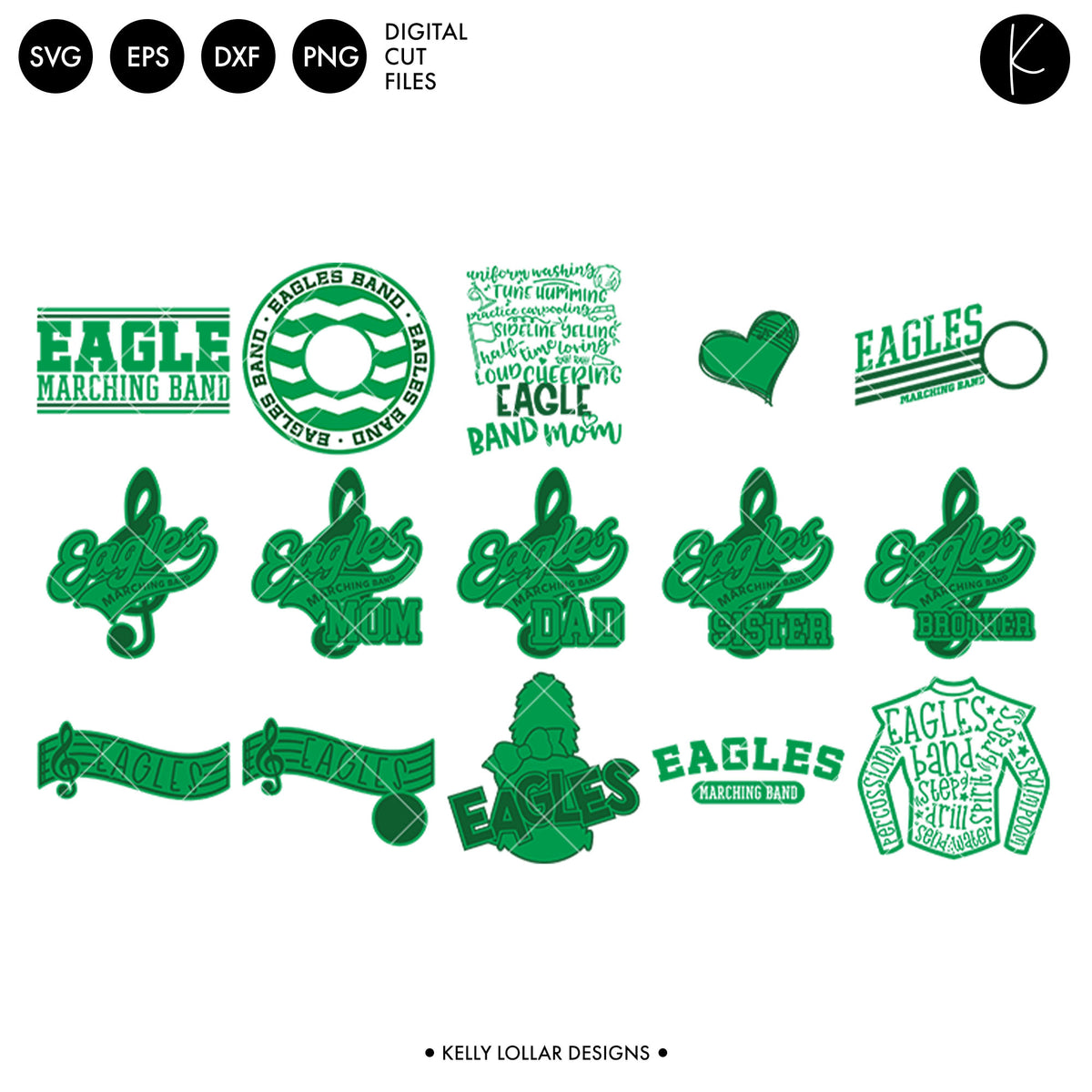 Eagles Band Bundle | SVG DXF EPS PNG Cut Files