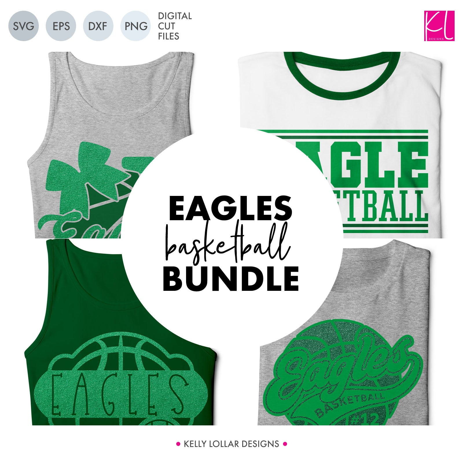 Eagles Basketball Bundle | SVG DXF EPS PNG Cut Files It's basketball season, so you Eagle Basketball crafter know what that means ... new spirit shirts! This fourteen-piece bundle includes a little something for everyone - from girly and cute