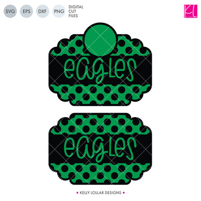 Eagles Mascot Bundle | SVG DXF EPS PNG Cut Files