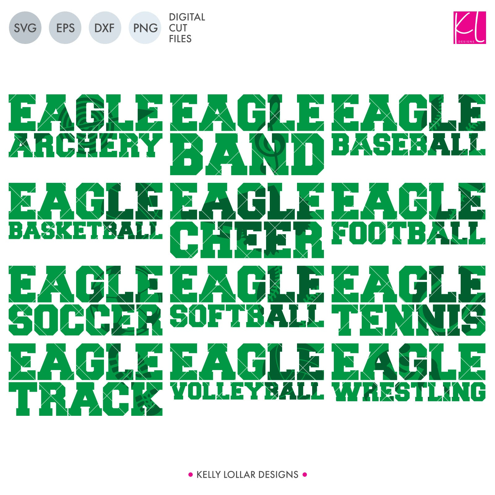 Eagles Sports Pack | SVG DXF EPS PNG Cut Files