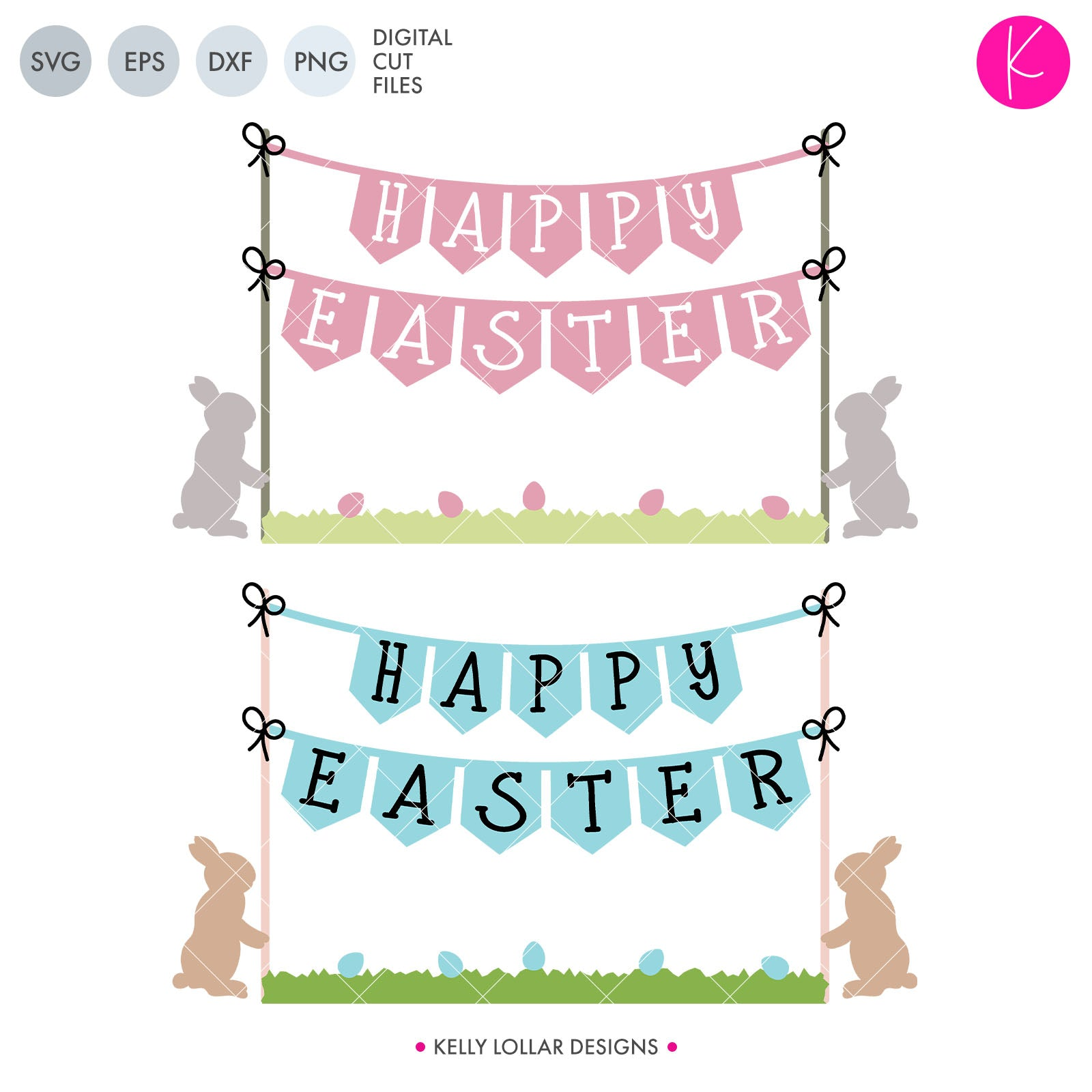 Easter Bunting | SVG DXF EPS PNG Cut Files