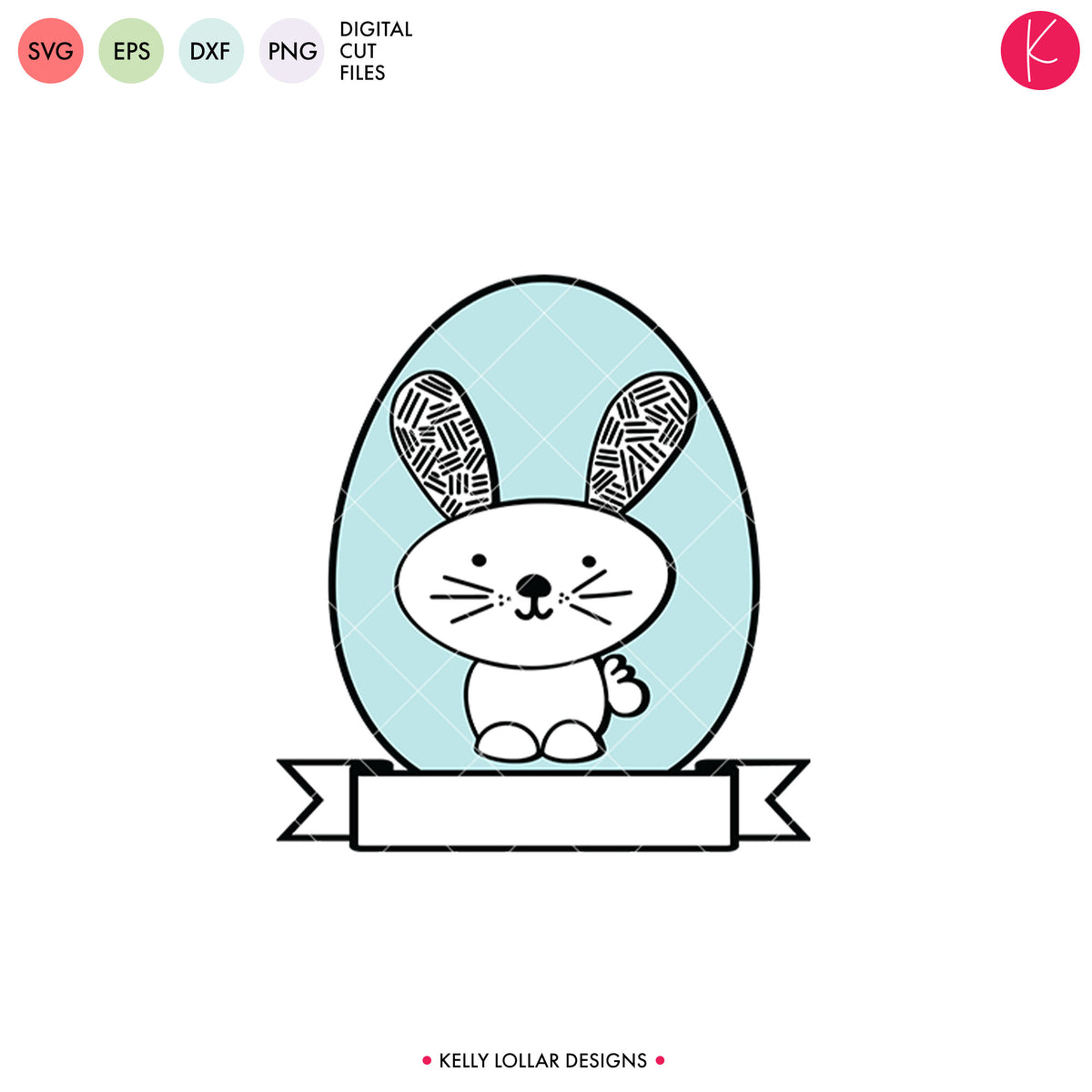 Modern Easter Bunny | SVG DXF EPS PNG Cut Files