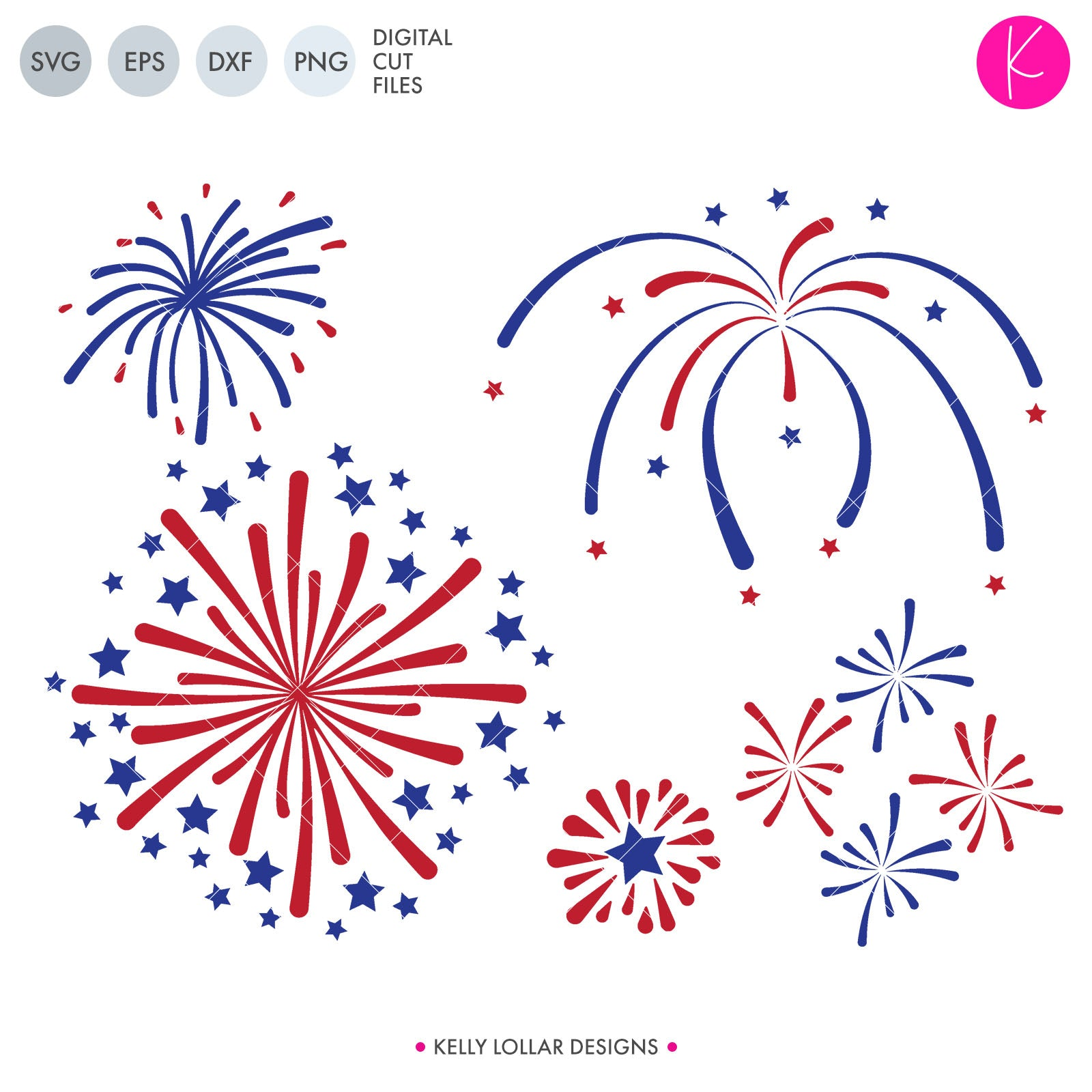 Fireworks Pack | SVG DXF EPS PNG Cut Files