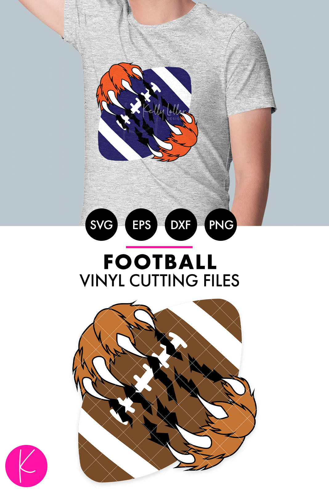 Football with Claws | SVG DXF EPS PNG Cut Files