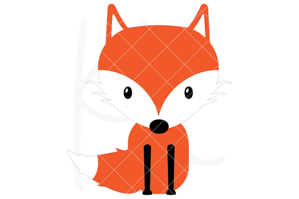 Fox svg file with 3 layers - also part of the Woodland Animal svg bundle