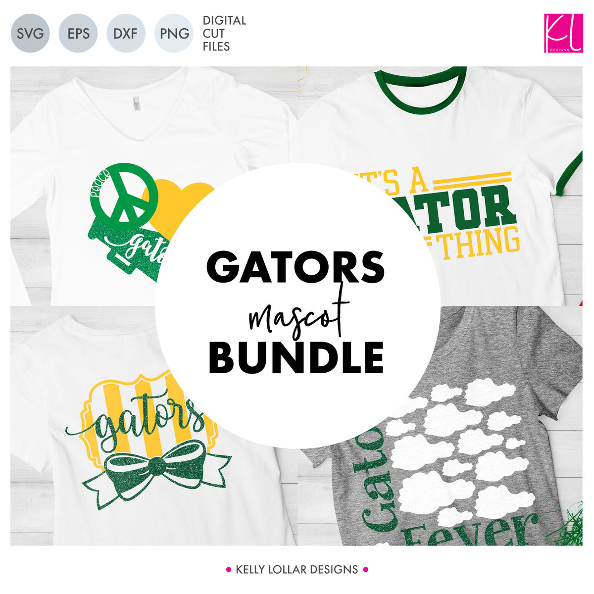 Gators Mascot Bundle | SVG DXF EPS PNG Cut Files