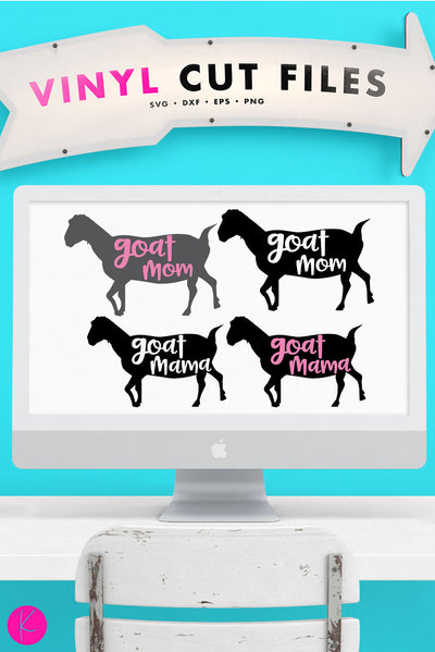 Goat Mama | SVG DXF EPS PNG Cut Files