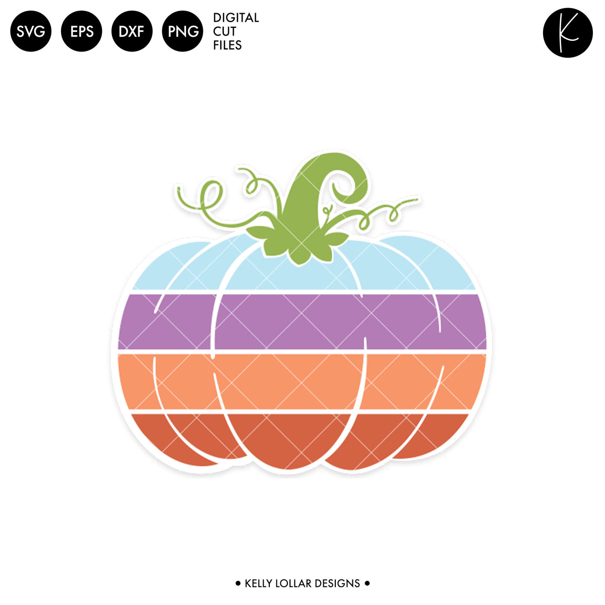 Gradient Pumpkin | SVG DXF EPS PNG Cut Files