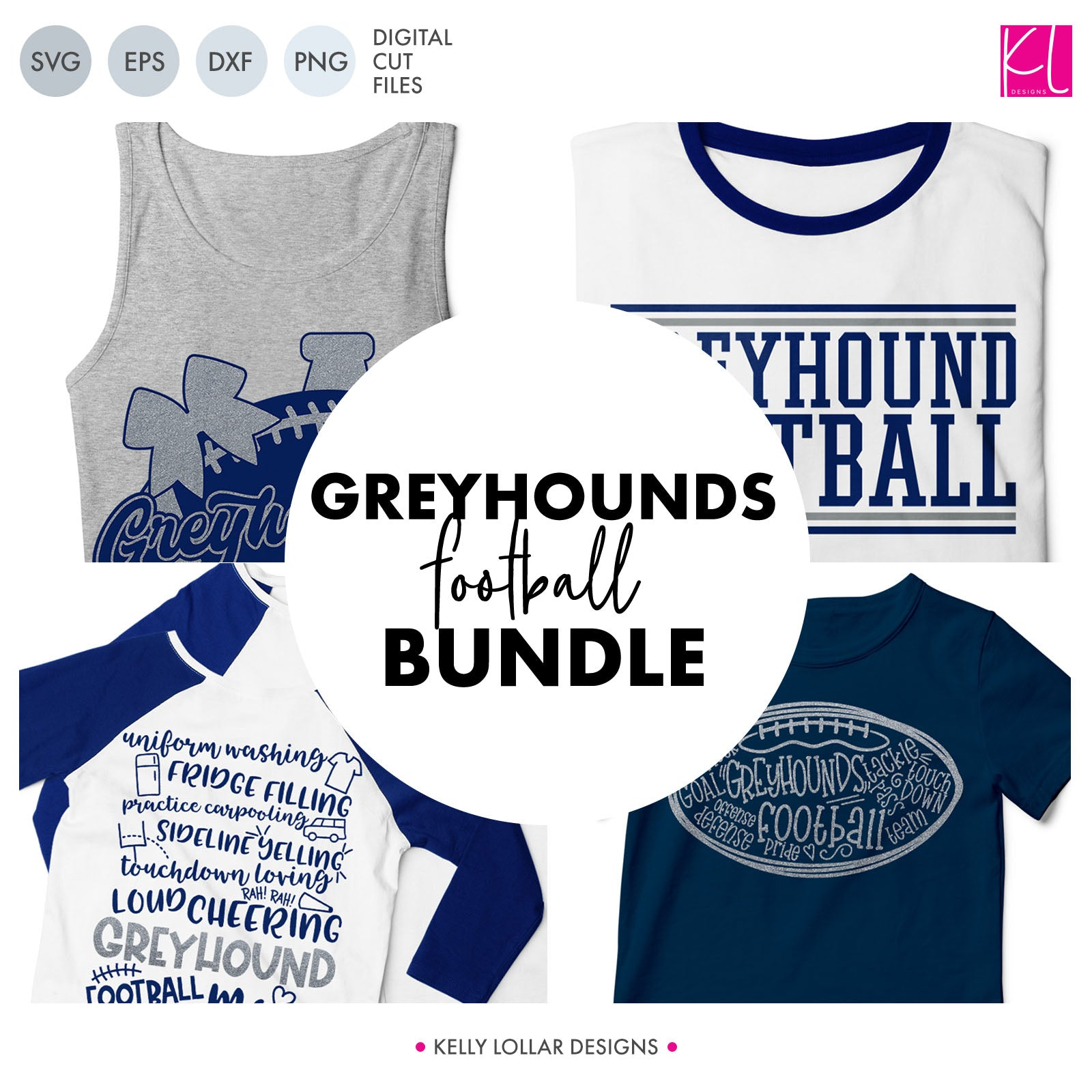Greyhounds Football Bundle | SVG DXF EPS PNG Cut Files