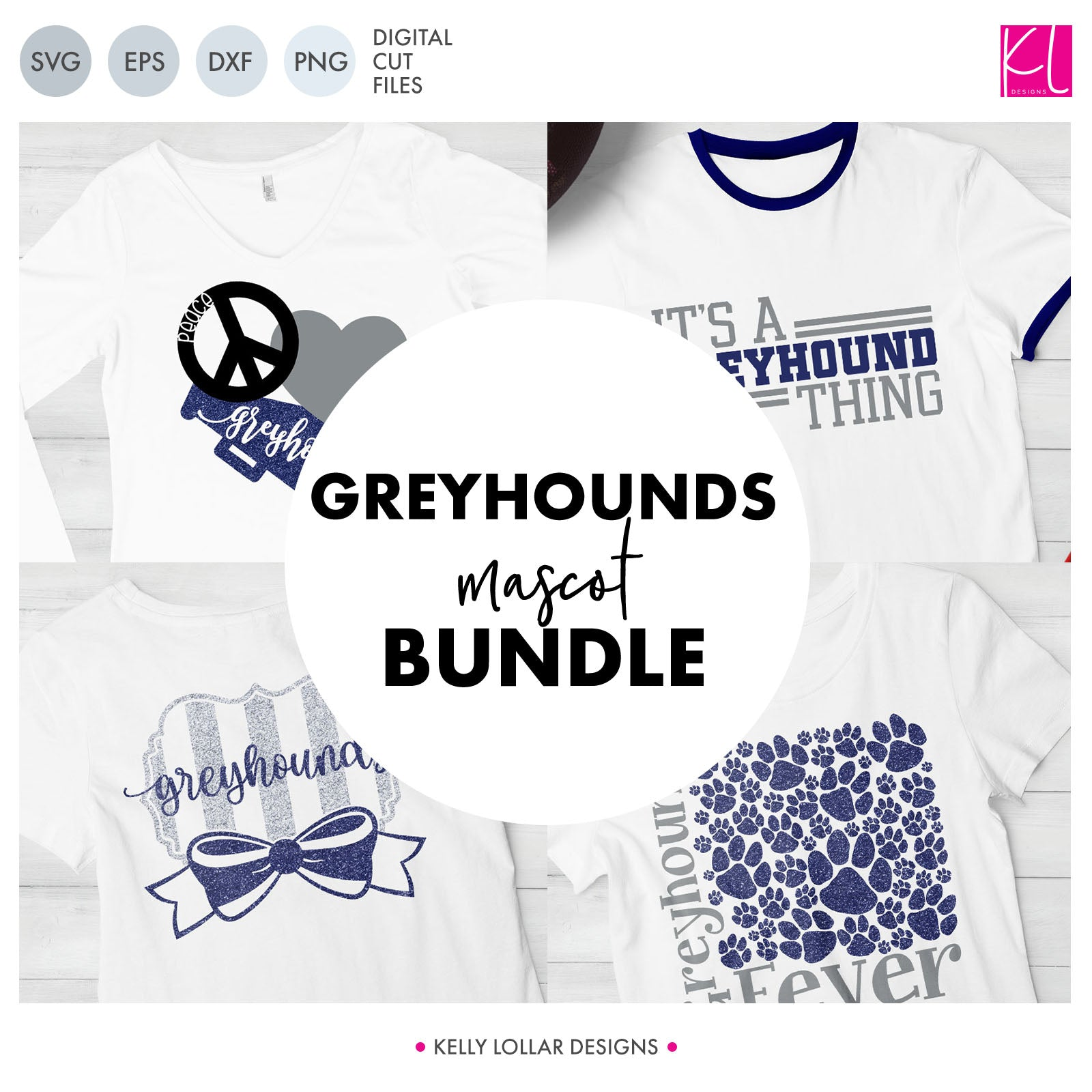 Greyhounds Mascot Bundle | SVG DXF EPS PNG Cut Files