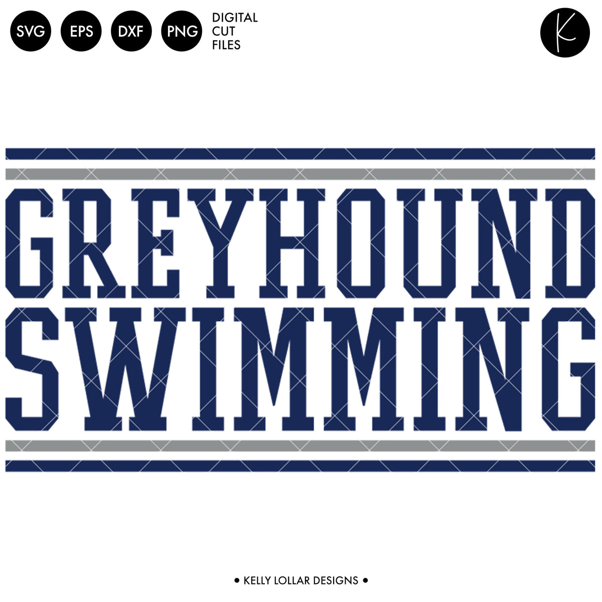 Greyhounds Swim Bundle | SVG DXF EPS PNG Cut Files