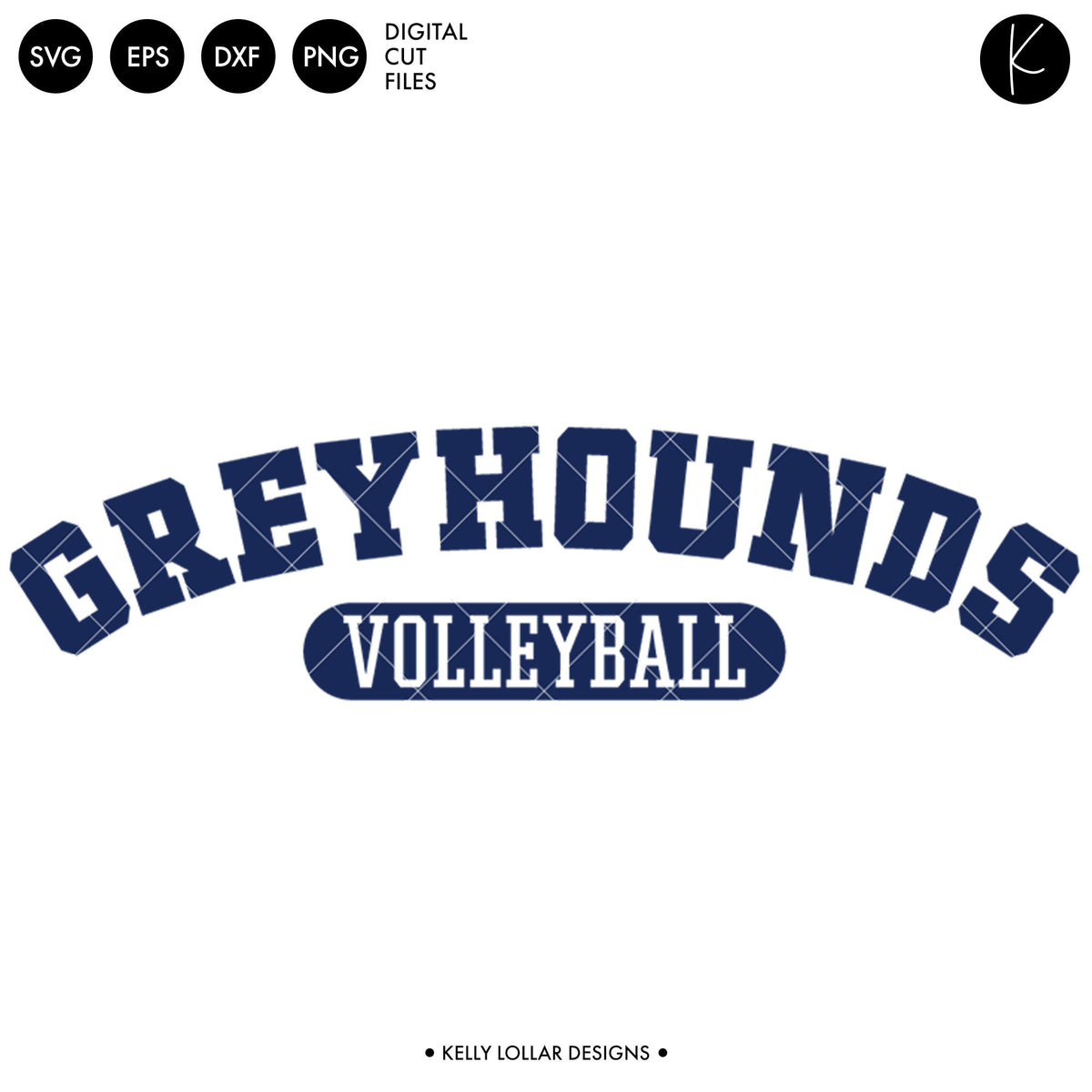 Greyhounds Volleyball Bundle | SVG DXF EPS PNG Cut Files
