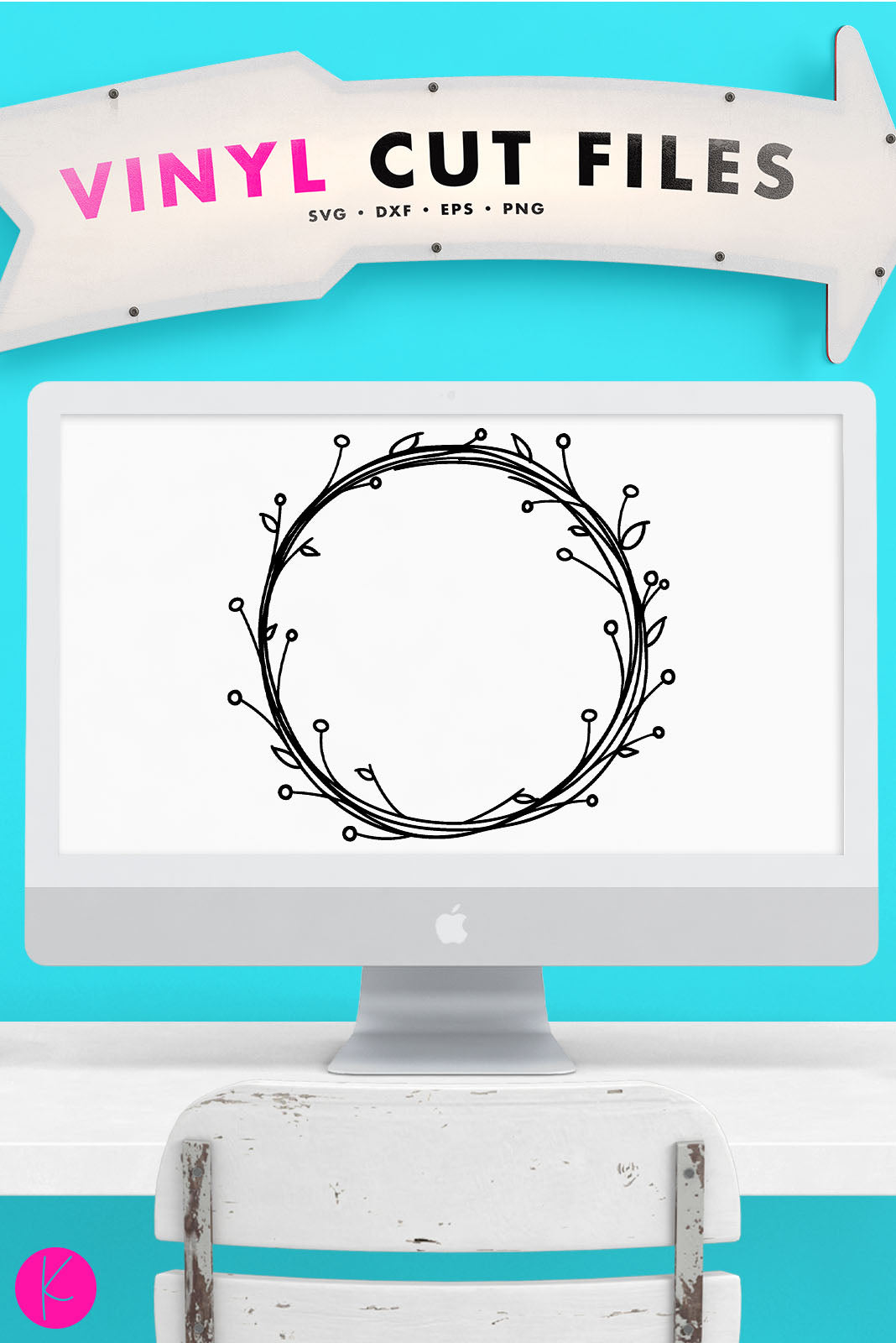 Wreath | SVG DXF EPS PNG Cut Files