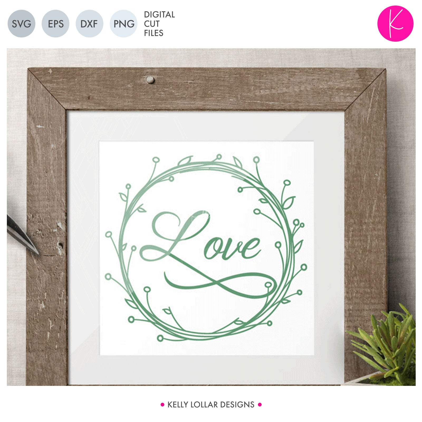 Wreath | SVG DXF EPS PNG Cut Files Hand Sketched Circle Monogram Frame with Leaves and Blooms for Monograms, Names and Quotes | SVG DXF EPS PNG Cut Files This versatile floral wreath svg has so many applications