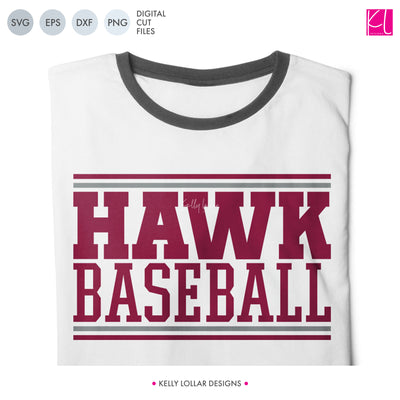 Hawks Baseball & Softball Bundle | SVG DXF EPS PNG Cut Files